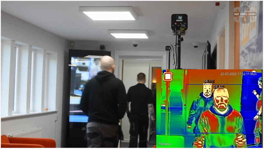 Commercial Thermal Screening by Safe Simple Secure