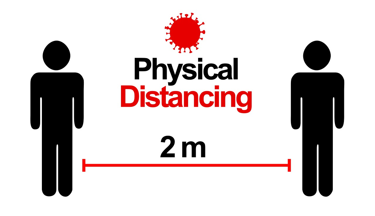 2 people 2m covid physical distancing